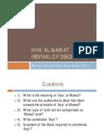 <LAND LAW I> Ihya' al-Mawat