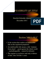 <LAND LAW I> Indefeasibility of Title
