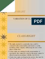 <COMPANY LAW I> Class Right
