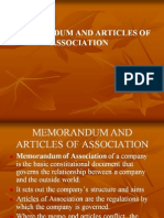 <COMPANY LAW I> Memorandum and Articles of Association