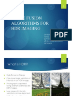 Image Fusion Algorithms for Hdr Imaging Changemdified