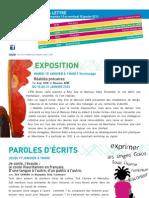 La lettre de l'IFM du 13 au 18 janvier 2013
