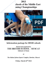 2013 bsme swimming championships - info package