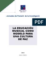 Educación musical como modelo para una cultura de paz