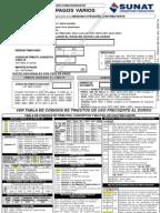 Tabla de codigos y multas sunat for Formulario trabajadores del hogar