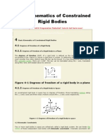 Basic Kinematics of Constrained Rigid Bodies