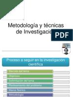 Metodologia y tècnicas  de la investigaciòn V