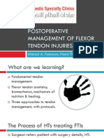 POSTOPERATIVE MANAGEMENT OF FLEXOR TENDON INJURIES