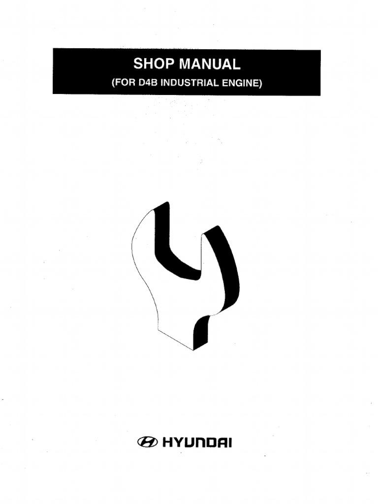 Manual de manutenção motor Hyundai H100 D4BB