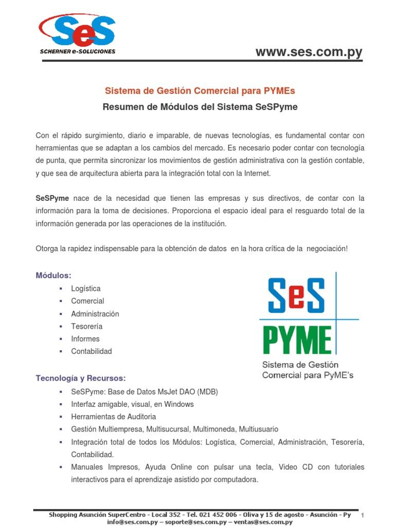 Sistema De Gestión Comercial Para Pymes Contabilidad