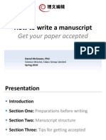 How to Write a ManuscriptGet Your Paper Accepted Daniel McGowan