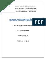 TRABAJO DE MATEMÀTICAS CA2-5