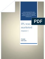 Consumer Behaviour-IPL Marketing