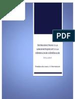 Introduction à la linguistique et à la sémiologie générales LLM 1