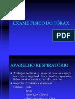 Exame físico do torax