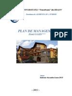 Plan de Management Hotel OASIS (Brasov)