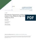 Boundary Less Organizations