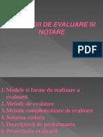 Prezentare-strategii de Evaluare Si Notare