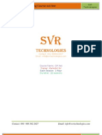 ASP.net Training Course Out Line by SVR Technologies