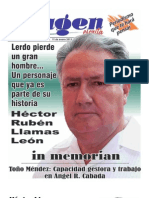 HOMENAJE DE LA REVISTA IMAGEN,DE JULIO VICENTE CRUZ,A HECTOR RUBEN LLAMAS LEON, EL CONSTRUCTOR DEL LERDO MODERNO