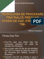 Tehnologia de procesare prin înaltă presiune