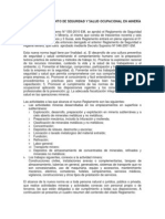 EL NUEVO REGLAMENTO DE SEGURIDAD Y SALUD OCUPACIONAL EN MINERIA.doc