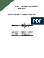 Variacion fonetica de los fonemas liquidos distensivos en el español de Pinar del Rio Cuba