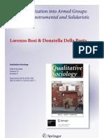 Bosi y Della Porta (2012). Micro-Mobilization Into Armed Groups...