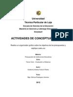 Organizador Grafico Sobre Los Objetivos de Los Presupuestos.