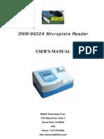 DNM 9602A Manual