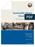 Peace Corps Sustainable Library Development Training Package  |  October 2012