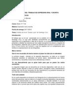 Informe Del Trabajo de Expresion Oral y Escrita