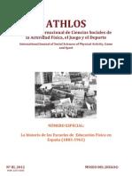 ATHLOS Revista Internacional de Cs.Sociales de la Act.Física, el Juego y el Deporte N°III 2012