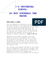 's Universal School Do Not Suppress the Truth