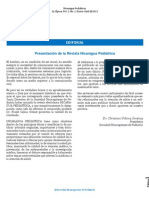 Editorial RNP Vol 1, No. 1, Enero-Abril 2013