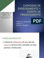 Capacidad de Endeudamiento y Fuente de Financiamiento