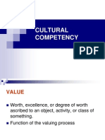 Cross CULTURAL COMPETENCY