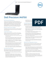 Dell Precision M4700 Specification.