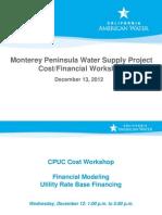 Cost Workshops on MPWSP (Dec2012) Presentation 3