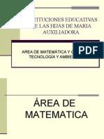 Area de Matemática y CTA