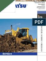 Catalogo Bulldozer Oruga d375a 5 Komatsu