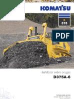 Catalogo Bulldozer Oruga d375a 6 Komatsu