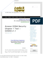 Answer CCNA Security Chapter 1 Test - CCNAS v1.1 _ Invisible Algorithm