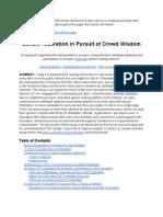 Gov2.0 Federation in Pursuit of Crowd Wisdom - 01/13/2013