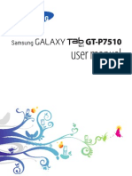Samsung Galaxy Tablet GT-7510 User Manual