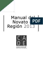 Manual Novato de Region 2013