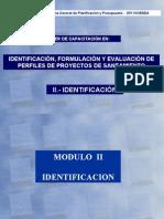 IDENTIFICACIÓN, FORMULACIÓN Y EVALUACIÓN DE PERFILES DE PROYECTOS DE SANEAMIENTO.