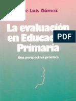 La evaluación en Educación Primaria