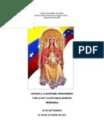 Novena a La Virgen 2012