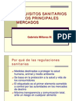 Requisitos Sanitarios de Los Principales Mercados